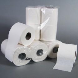 Papier W.C. 2 plis, blanc, 200 coupons, paquet 48 rlx