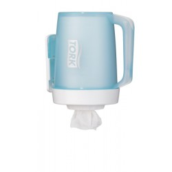 TORK PORTABLE MINI CENTERFEED DISPENSER M1 ABS BLANC / TURQUOISE